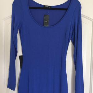Brand-New Elegant Navy Royal Blue Maxi Dress - S